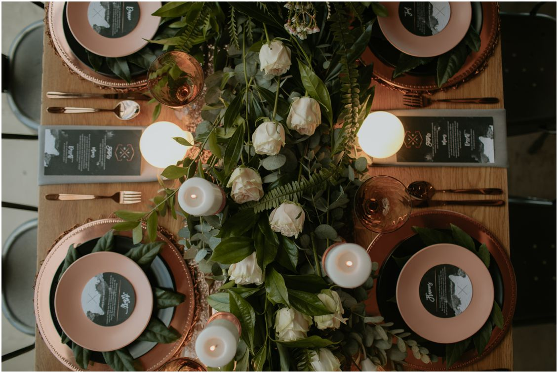 Industrial Wedding Decor