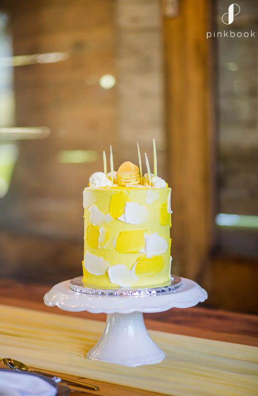 yellow wedding cake ideas