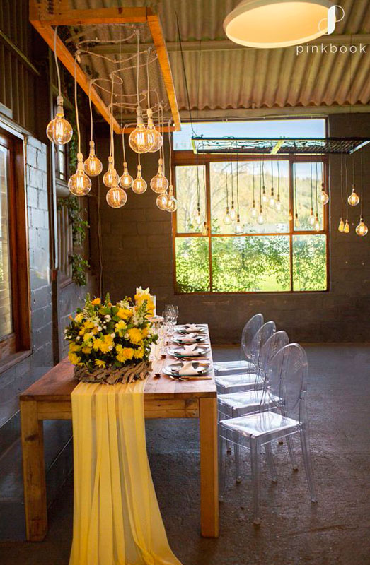 yellow wedding decor and flower ideas