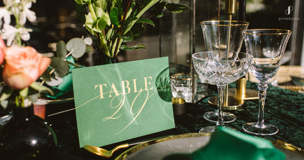 green wedding table number ideas