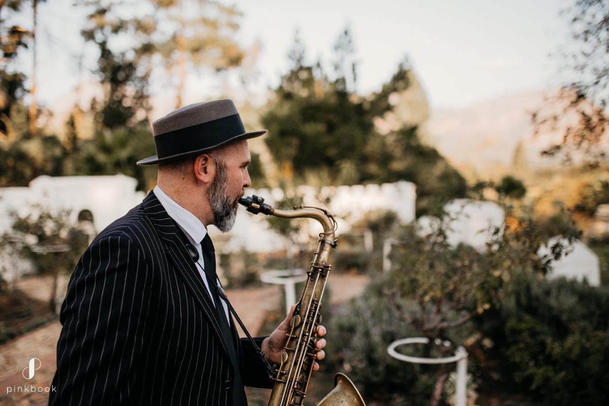saxophone music at wedding