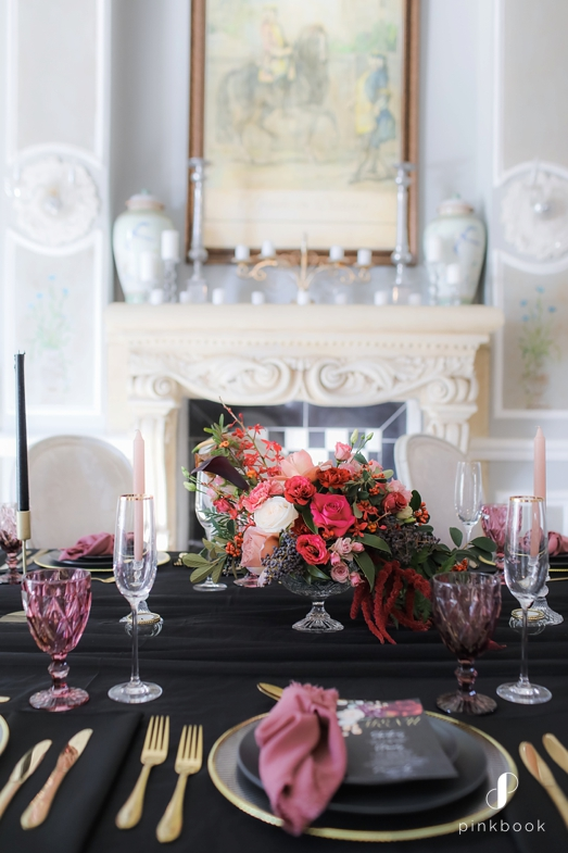 black table decor