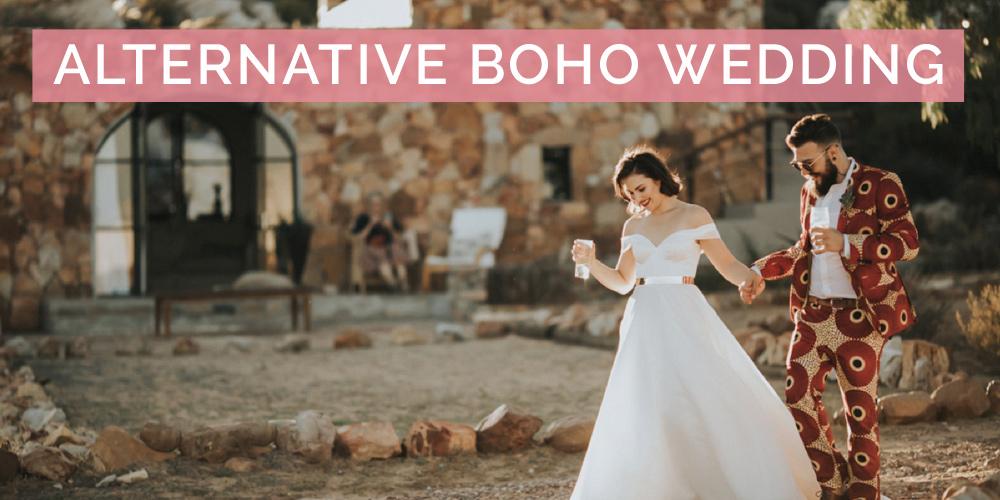 Alternative Boho Wedding at Tierkloof Mountain Cottages