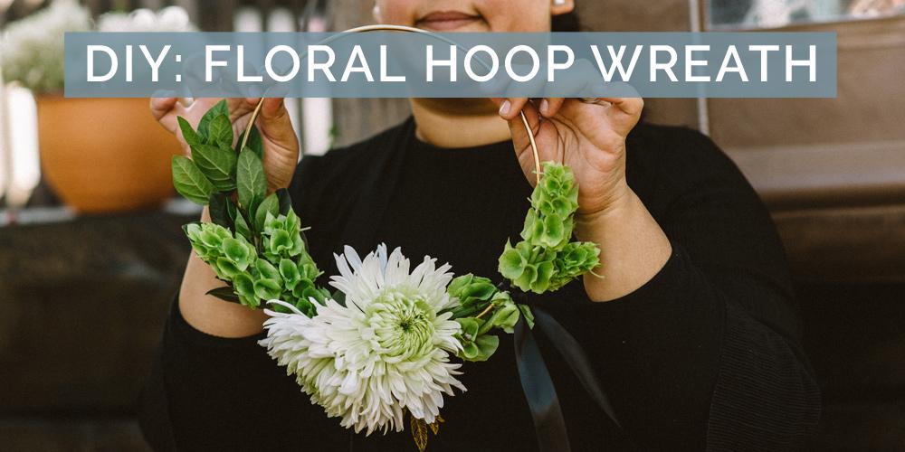 DIY Wedding Flower Hoop Bouquet