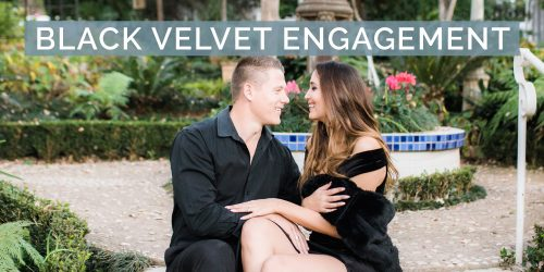 Black Velvet Engagement Shoot