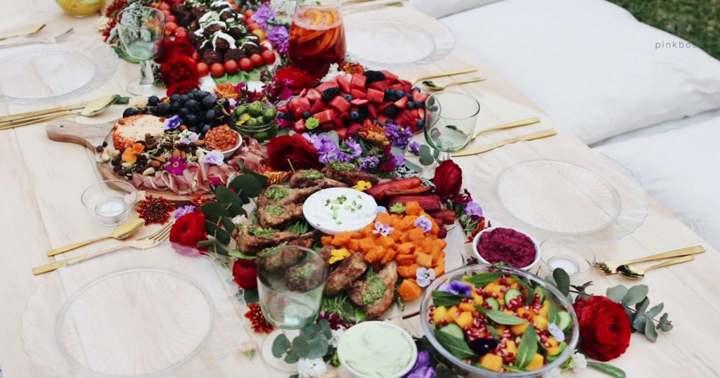 family feast wedding catering trends 2020