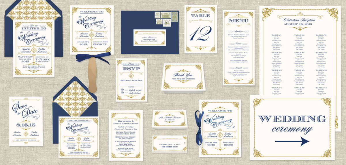 matching wedding stationery sets