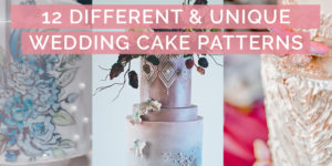 12 Different Wedding Cake Patterns