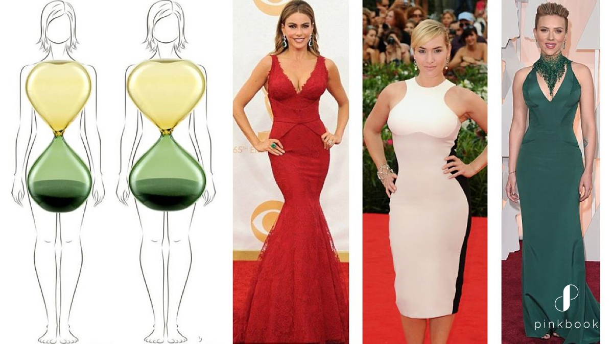 Examples of hourglass body types