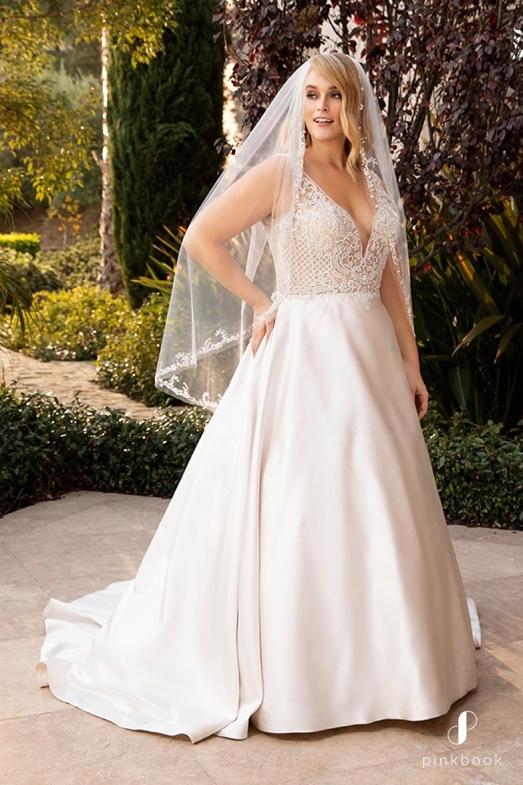 Apple Shaped wedding dresses