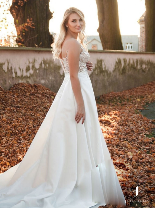 Wedding dress for The Apple-Shaped Bride