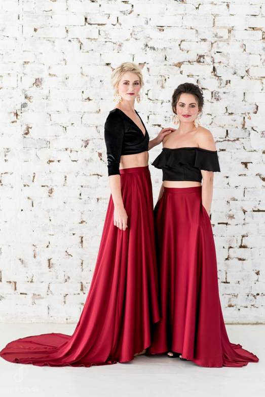 two piece bridesmaid dresses winter