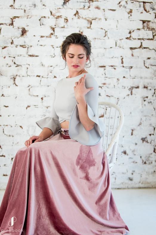 unique velvet bridesmaid dress