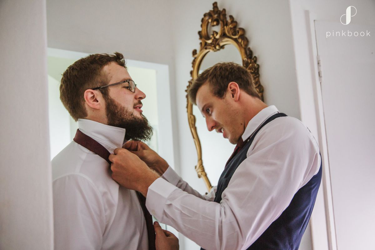 Groom Preparations on the day