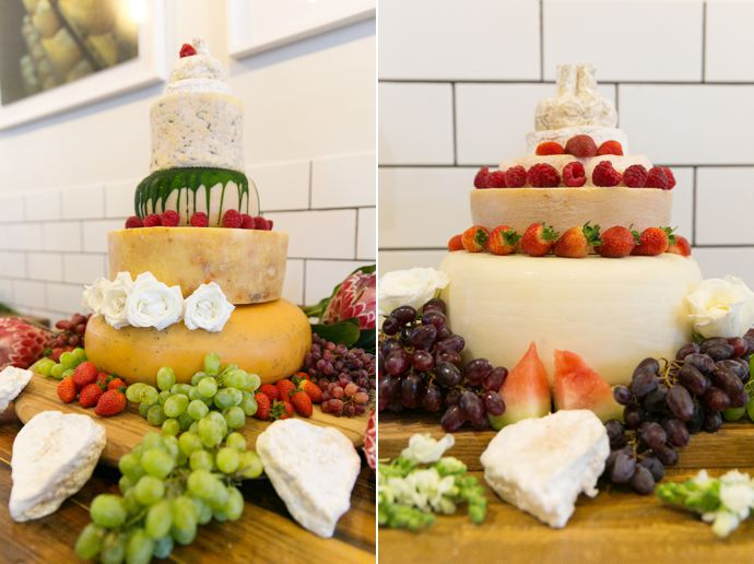 Wedding Cakes Made From Cheese - Pink Book Wedding Inspiration