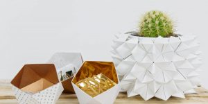 DIY Wedding Decor Ideas – Origami Vase