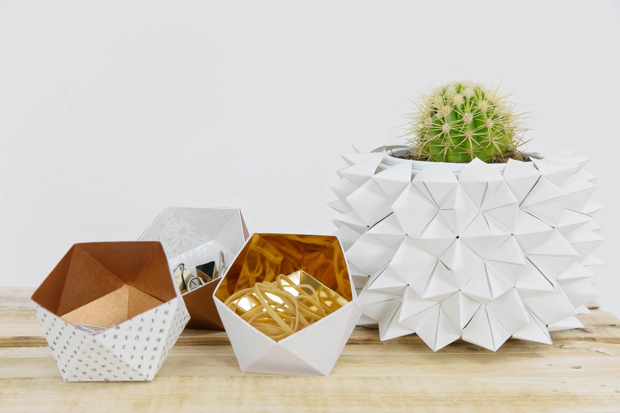 DIY Wedding Decor Ideas - Origami Vase