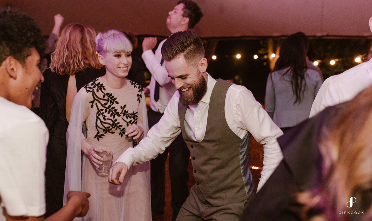 Bride and Groom dancing +