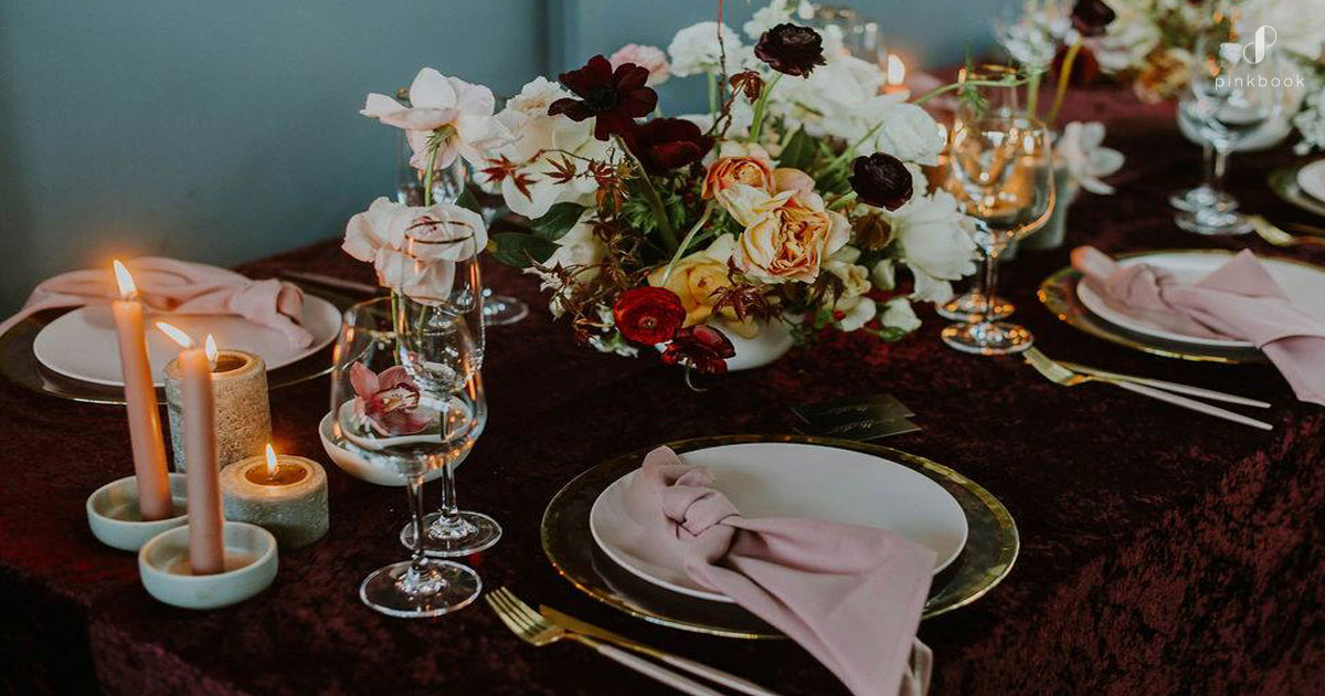 red burgundy wedding inspiration