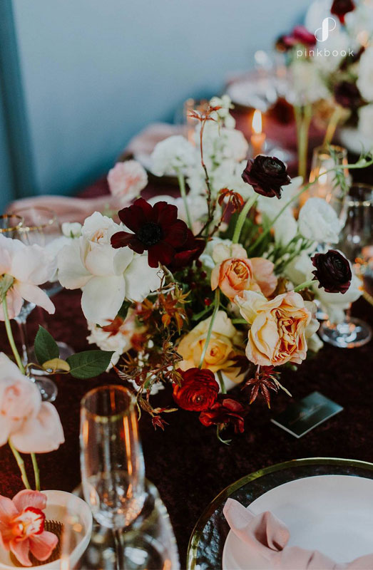 garden inspired wedding table decor