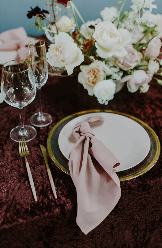 burgundy and blush wedding ideas