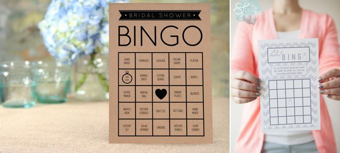 Kitchen Tea Games Bridal Bingo