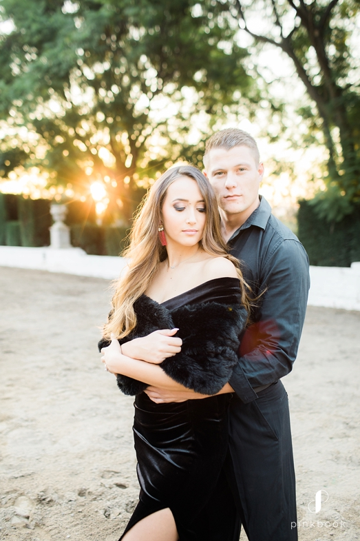 couple dressed in black