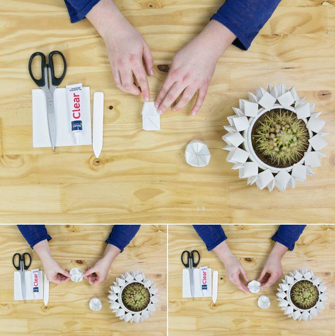 DIY Wedding Decor Ideas Origami Fortune Teller Vase Cover