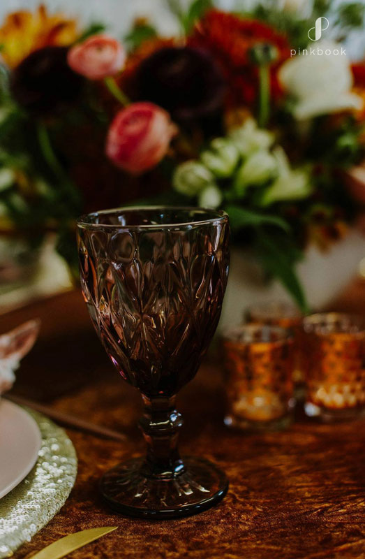 rust and orange wedding table decor