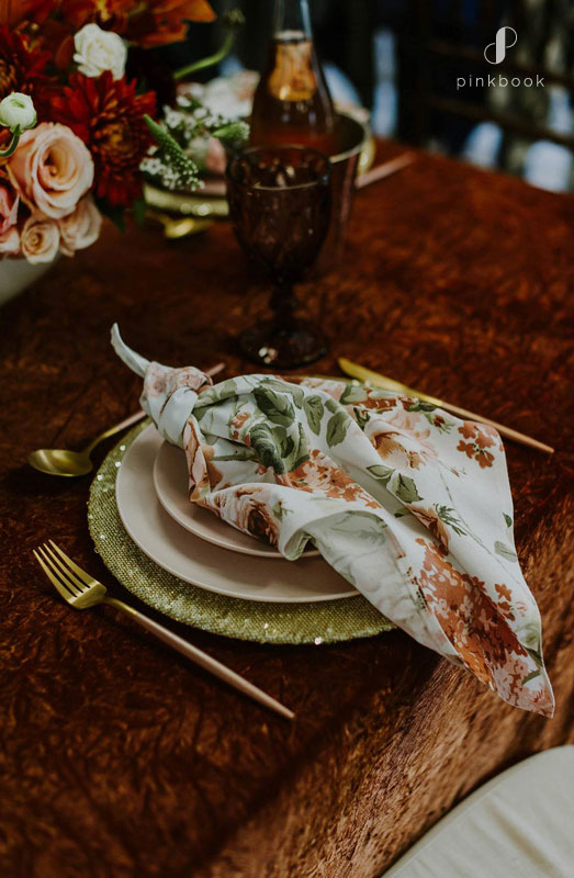 rust colour wedding inspiration