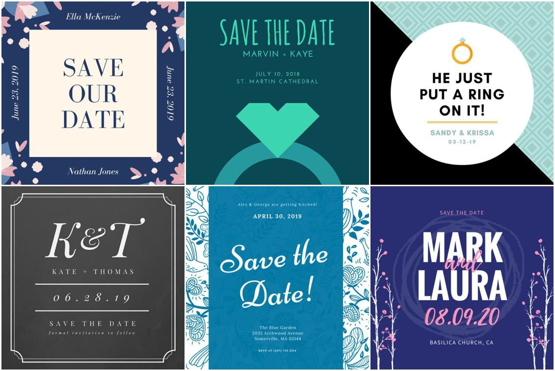 Save the Date Ideas Templates