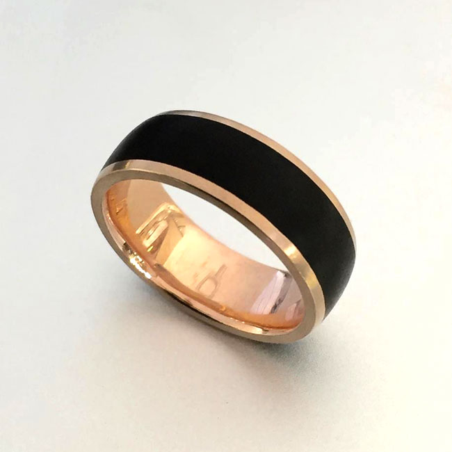 african black wood wedding ring