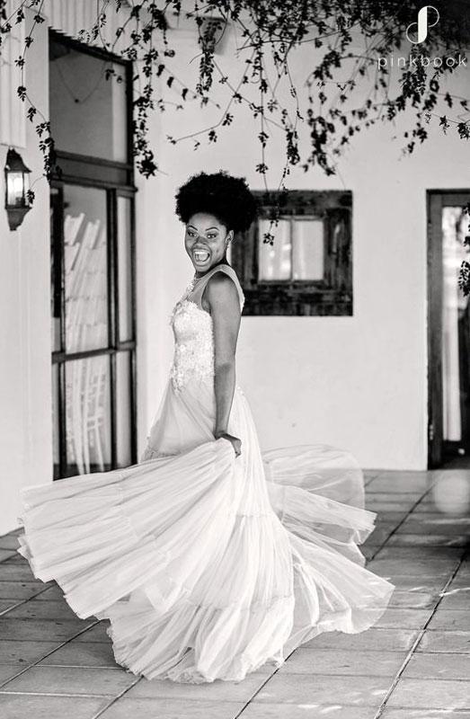 african bride wedding dress