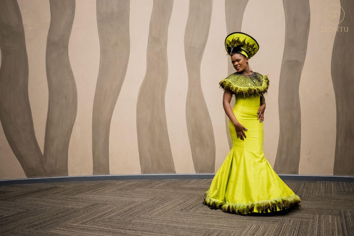 mermaid african wedding dress