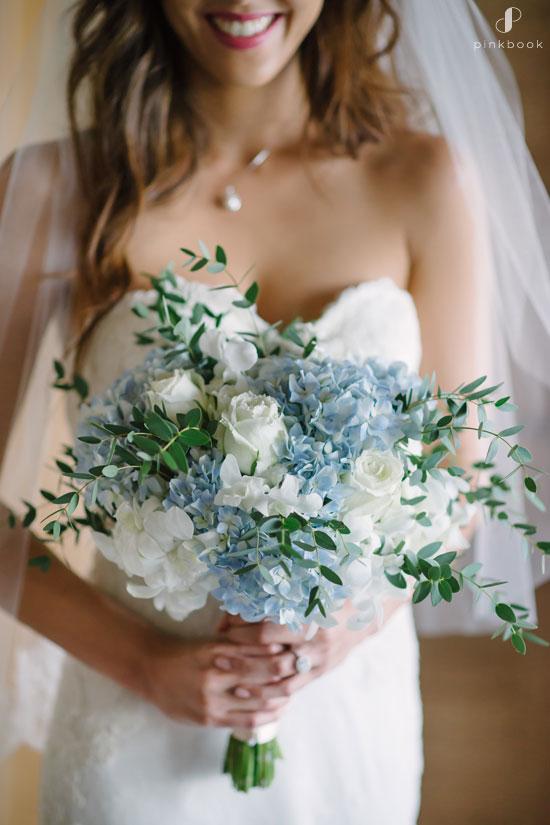 Pale Blue Flower Bouquet Weddings
