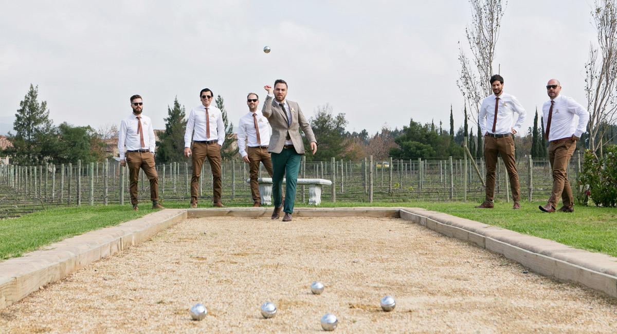 boules at wedding