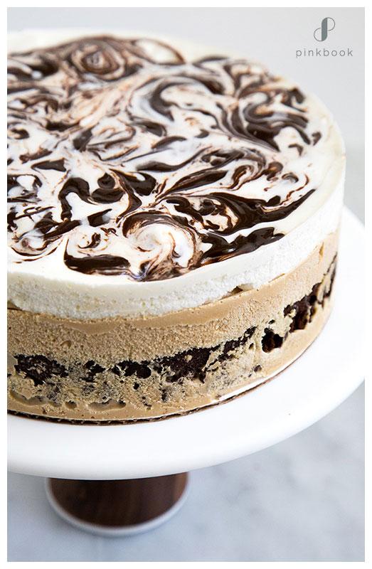 Coffee and Cream Wedding Cake