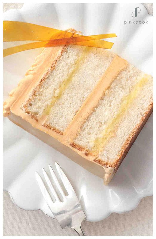 Creme Brulee Flavour Wedding Cake