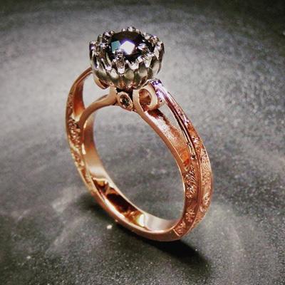 custom engagement rings kallie