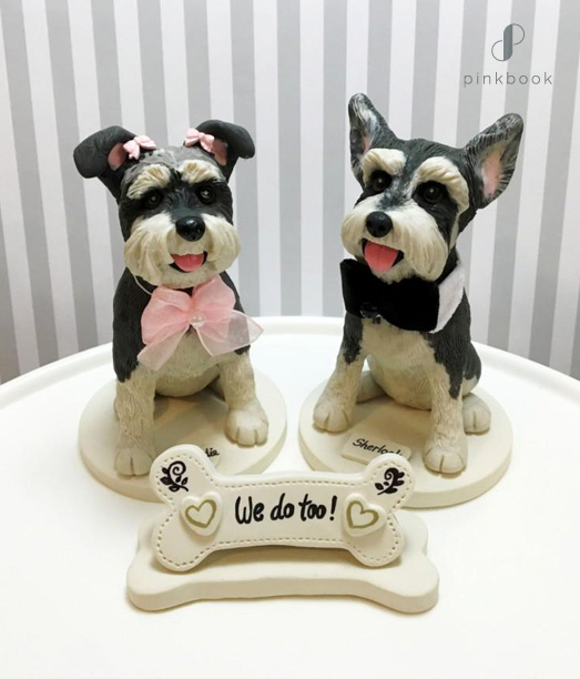 cute doggy wedding cake toppers