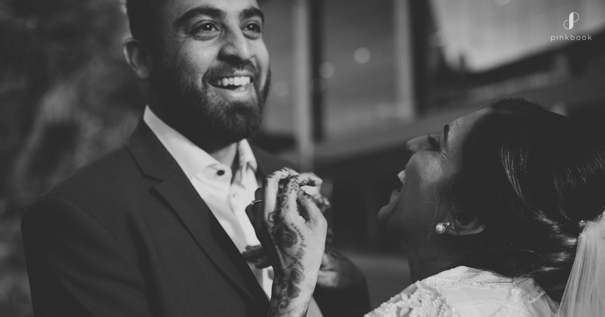 cute wedding couple