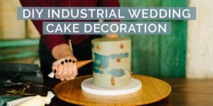 DIY Industrial Wedding Cake Design