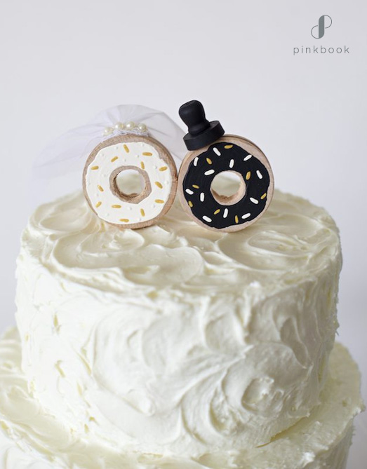 donuts wedding cake topper