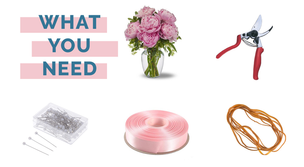 what you need for bouquet diy