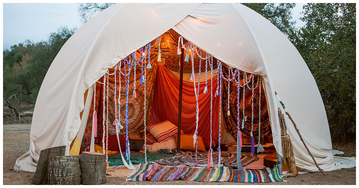 bachelorette party glamping