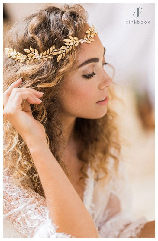 grecian wedding headband