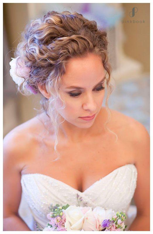 grecian wedding updo hairstyle