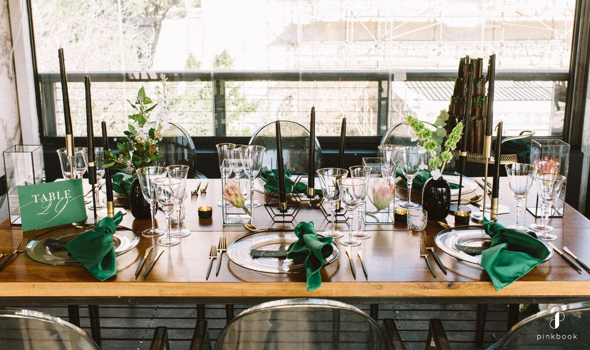 green wedding decor ideas
