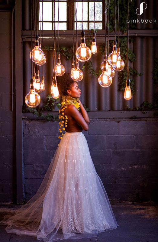 hanging lighting wedding