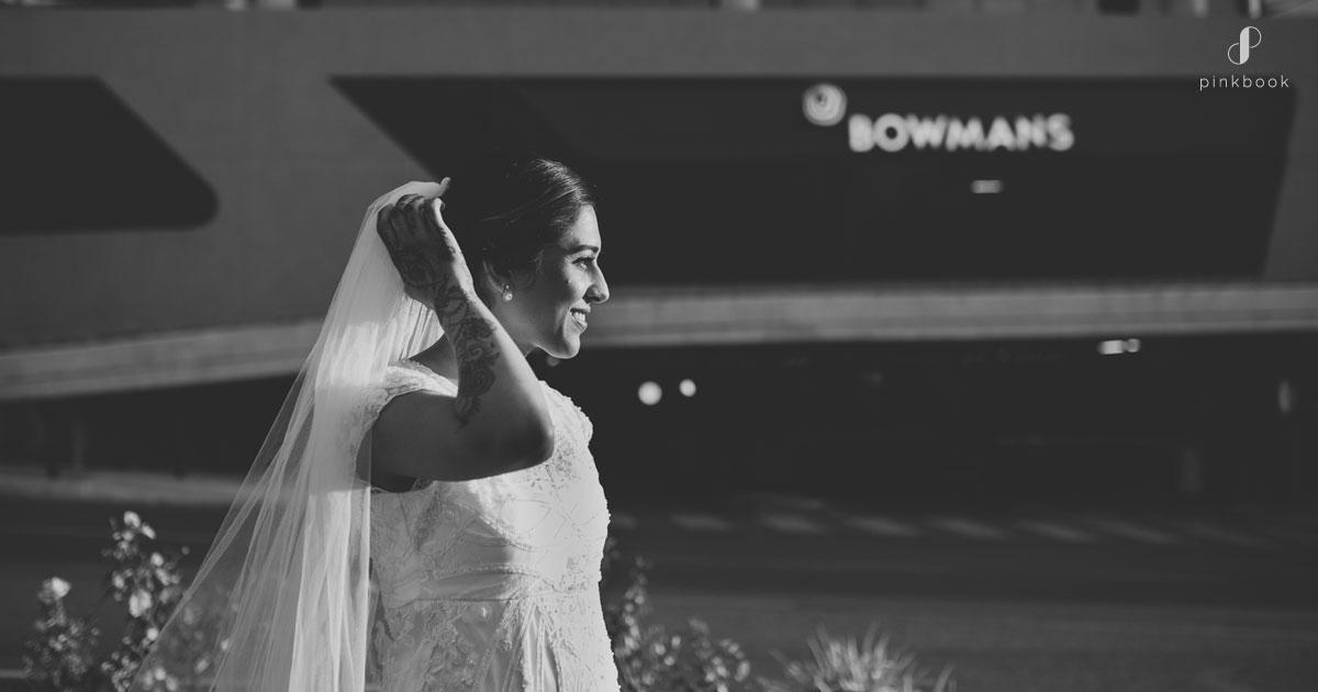 happy indian bridal portrait